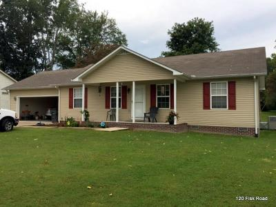 Cookeville Single Family Home Under Contract - Not Showing: 1290 Fisk Rd