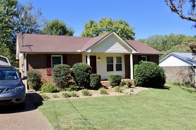 Davidson County Single Family Home For Sale: 1505 Watercress Dr