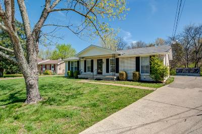Nashville Single Family Home Under Contract - Showing: 2849 Rural Hill Circle