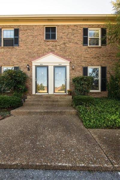 Brentwood Condo/Townhouse For Sale: 802 Brentwood Pointe