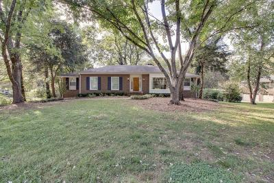 Brentwood Single Family Home Under Contract - Showing: 1413 Parker Place