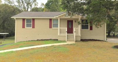Nashville Single Family Home For Sale: 244 Welch Rd