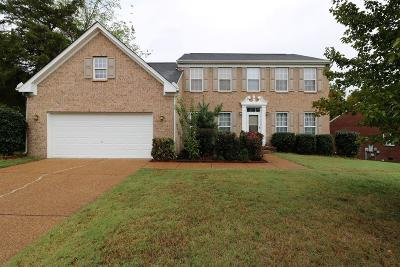 Brentwood Single Family Home For Sale: 1308 Sweetwater Dr
