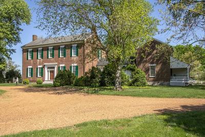 Franklin Single Family Home For Sale: 3200 Del Rio Pike