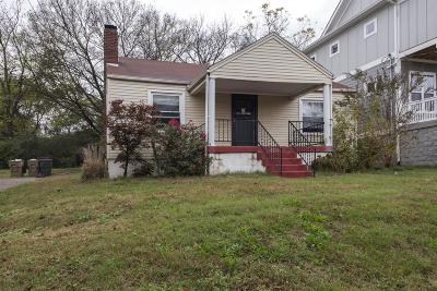 East Nashville Single Family Home Under Contract - Showing: 2501 Inga St