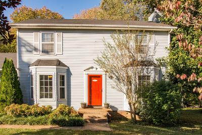 Davidson County Single Family Home Under Contract - Showing: 824 Sandburg Place