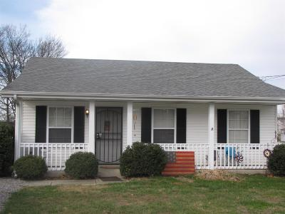 Clarksville TN Single Family Home For Sale: $105,000