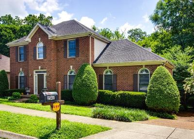 Franklin Single Family Home Under Contract - Showing: 2541 Winder Dr