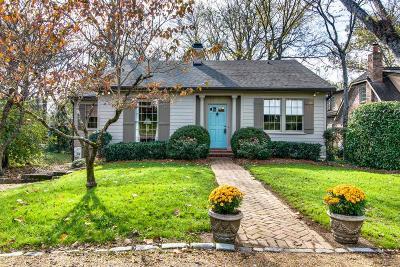Belle Meade Single Family Home For Sale: 111 Bellevue Dr S