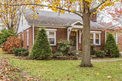 Franklin Single Family Home Under Contract - Showing: 203 Cleburne St