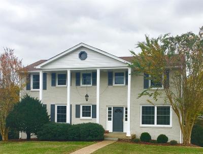 Nashville Single Family Home For Sale: 6319 Saint Henry Dr