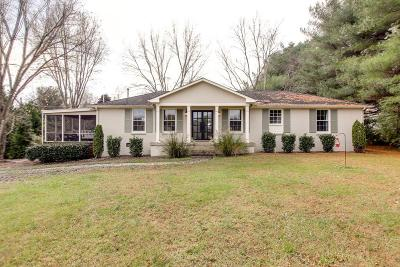 Franklin Single Family Home For Sale: 830 Lewisburg Pike