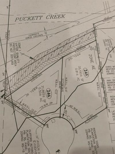 Murfreesboro Residential Lots & Land For Sale: 246 Cornerstone Dr