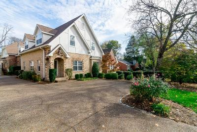 Davidson County Condo/Townhouse For Sale: 172 C Woodmont Blvd
