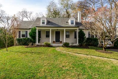 Davidson County Single Family Home For Sale: 3507 Woodmont Ln