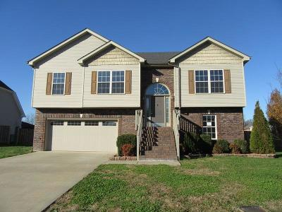Clarksville Single Family Home Under Contract - Showing: 2868 Brewster Dr