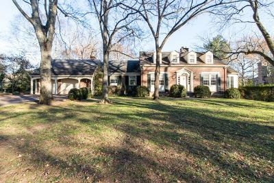 Belle Meade Single Family Home For Sale: 608 Enquirer Ave