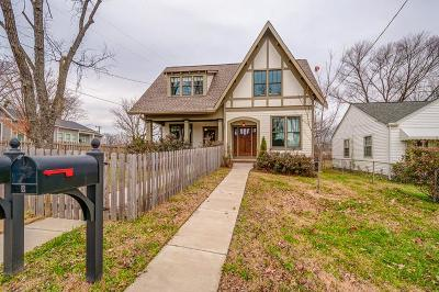 Nashville Single Family Home For Sale: 1801 B Woodland St
