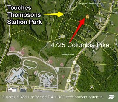 Thompsons Station  Residential Lots & Land For Sale: 4725 Columbia Pike