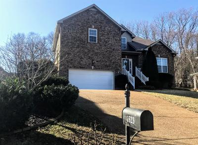 Thompsons Station  Single Family Home Under Contract - Showing: 1523 Bunbury Dr