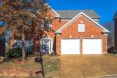 Brentwood Single Family Home Under Contract - Showing: 428 Carphilly Ct