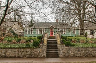 Nashville Single Family Home For Sale: 3613 Central Ave