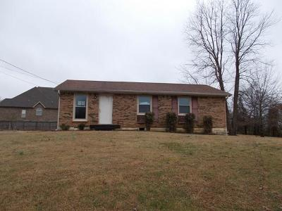 Clarksville TN Single Family Home For Sale: $76,000