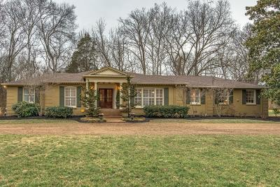 Nashville Single Family Home Under Contract - Showing: 6121 Melbourne Dr