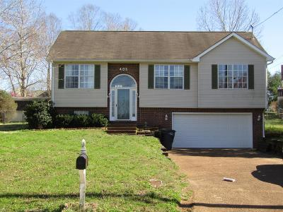 Maury County Single Family Home For Sale: 405 Bradford Ct