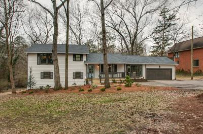 Davidson County Single Family Home Under Contract - Showing: 3731 Cedarwood Dr