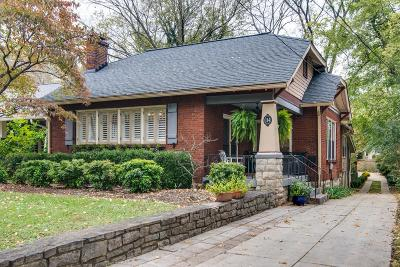 Nashville Single Family Home Under Contract - Showing: 114 Bowling Ave