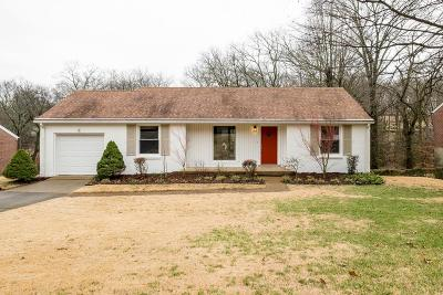 Nashville Single Family Home For Sale: 814 Kendall Dr