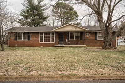 Robertson County Single Family Home For Sale: 102 Lee Ln