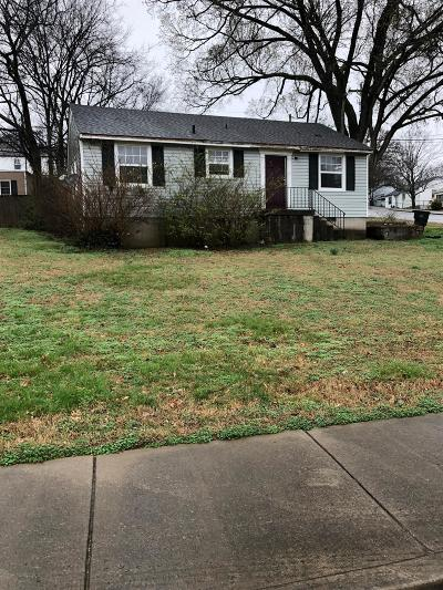 Davidson County Single Family Home For Sale: 3800 Sentinel Dr
