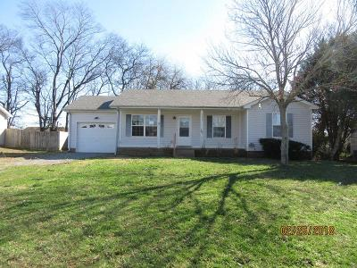 Clarksville Single Family Home Under Contract - Showing: 3435 Sandpiper Dr