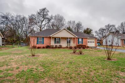 Smyrna Single Family Home Under Contract - Showing: 804 Blue Springs Drive