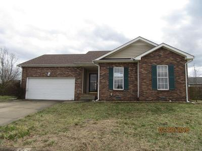 Clarksville Single Family Home Under Contract - Showing: 1883 Timberline Way