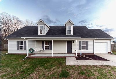 Murfreesboro TN Single Family Home Under Contract - Showing: $192,000
