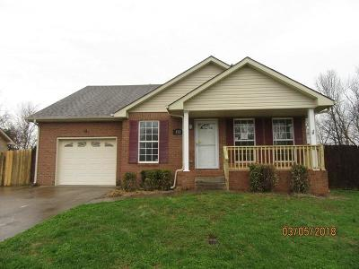 Christian County, Ky, Todd County, Ky, Montgomery County Single Family Home Under Contract - Showing: 352 Maple Park Dr