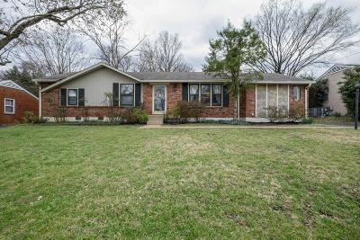 Nashville Single Family Home Under Contract - Showing: 309 Gaywood Dr