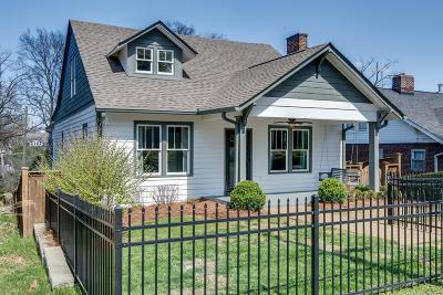 Nashville Single Family Home Under Contract - Showing: 1516 A Ferguson Ave