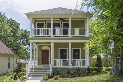 Nashville  Single Family Home For Sale: 1635 11th Ave N