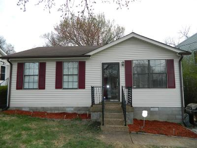 Nashville  Single Family Home For Sale: 326 Queen Ave