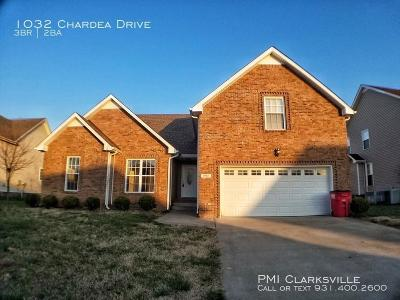 Clarksville Rental For Rent: 1032 Chardea Drive