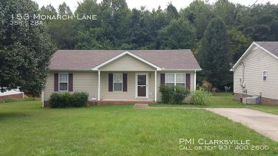 Christian County, Ky, Todd County, Ky, Montgomery County Rental For Rent: 153 Monarch Lane