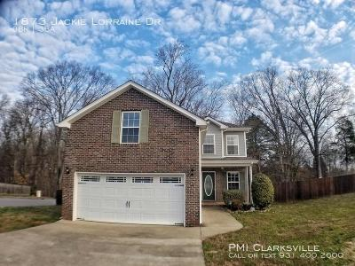 Clarksville Rental For Rent: 1873 Jackie Lorraine Drive