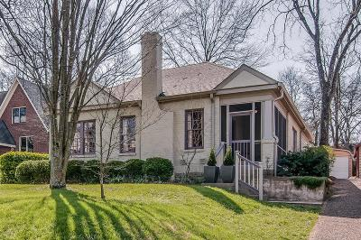 Nashville Single Family Home Under Contract - Showing: 2713 Westwood Ave