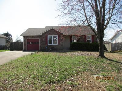 Christian County, Ky, Todd County, Ky, Montgomery County Single Family Home For Sale: 834 Iris Ln