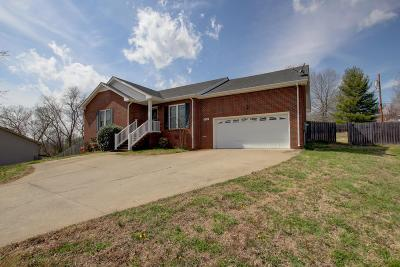 Clarksville TN Single Family Home For Sale: $171,500