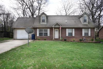 Clarksville TN Single Family Home For Sale: $147,900